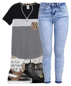"""No. 565"" by dessboo ❤ liked on Polyvore featuring MICHAEL Michael Kors, Vans, Victoria's Secret, New Look and Juicy Couture"