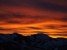 Book a Park City vacation rental and watch the clear blue sky transform into a orange-swiped masterpiece at sunset.