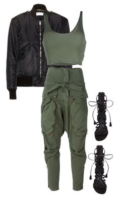 """""""Untitled #212"""" by jessiiicaaat ❤ liked on Polyvore featuring Yves Saint Laurent, Faith Connexion, Schutz and Roque"""