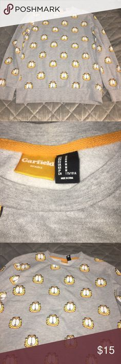 Garfield sweater from forever 21 (21Men) Never Worn Just Stored In Closet  Men Size Medium 21men Sweaters Crewneck