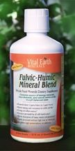 Fulvic Humic Blend - 32 ounce - Best of both Fulvic and Humic ionic minerals in one place. Helps to balance hormones, detoxify the body, increase energy and improve sleep.