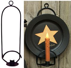 LOVE THIS!!  Plate & Candle Holder - Kruenpeeper Creek Country Gifts