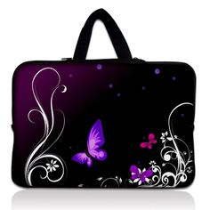New Butterfly Neoprene 17 17.3 17.4 Inch Laptop Sleeve Bag Handle Bag Netbook Inner Pouch Computer PC bag For Dell Hp Acer Asus #Affiliate