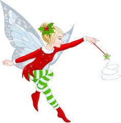 Transparent Christmas Elf Girl PNG Clipart
