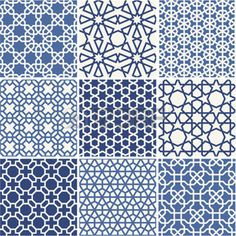 pattern: Set of Arabic seamless patterns, vector