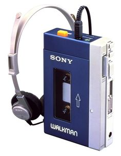 The original Sony Walkman, 1980