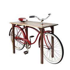 Portable Bicycle Tables - The 'Bike Table' Can Easily Be Wheeled From One Spot to Another (GALLERY)