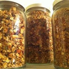 pinner says: Megan's Granola Allrecipes.com.  Best granola recipe I ever tried.