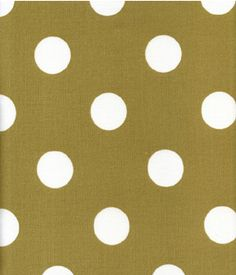 Harbor House   Indoor/Outdoor Fabric, Polka Dot Sand/White   By The