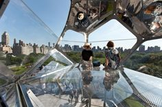 Artist Tomás Saraceno has created a constellation of large, interconnected modules constructed with transparent and reflective materials on the roof of the Metropolitan Museum of Art in New York.