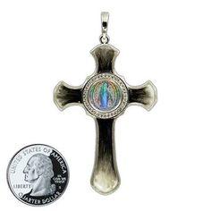 Miraculous Medal Cross 9