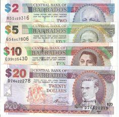 Barbados Dollar | BARBADOS $2 20 Dollar Banknote World Money Currency Caribbean BILL
