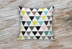 Colorful Aztec Triangle Decorative Pillows