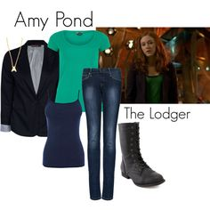 """""""Amy Pond - The Lodger"""" by ansleyclaire on Polyvore"""