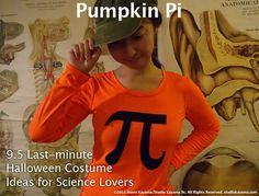 Last minute scientific costumes