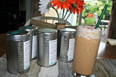 Recipe for making frappes with Davids Tea - kind of a necessity (remember to steep tea about an hour before hand for it to be best) Tea Riffic, Davids Tea, Tea Recipes, Drink Recipes, Tea Latte, Winter Drinks, Tea Box, Brewing Tea, Frappe