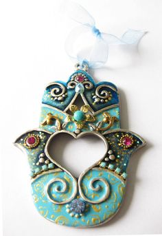 HAMSA Craft Judaica  Swarovski crystal Decor by IrinaSmilansky, $28.90