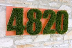 Grass House Numbers- too cute