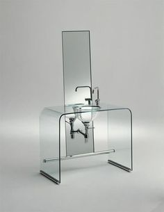 glass vanity top COUP DE FOUDRE by Shiro KURAMATA Rapsel