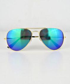 Mirror reflective aviator sunglasses