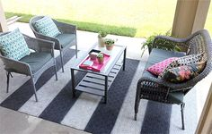 Update your home with these 5 spray paint DIY ideas!: Rugs