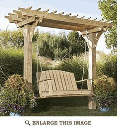 Easy Swinging Arbor with Swing - convert our wedding arbor to a swing for our backyard!