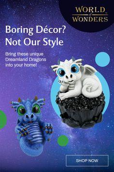 All Things Cute, Cool Things To Buy, Dragon Art, Pet Dragon, Polymer Clay Animals, Diy Resin Crafts, Cute Puppy Videos, Mason Jar Crafts, Cute Disney