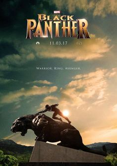 The Black Panther Poster for 2017 Black Panther Marvel, Black Panther 2018, Black Panther Statue, Marvel Comics, Marvel Heroes, Marvel Avengers, Film Black, Movie Black, Thor
