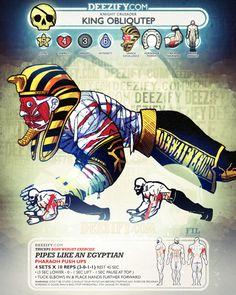 tricep exercise: pharaoh push ups