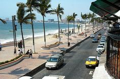 A main thoroughfare in Puerto Vallarta
