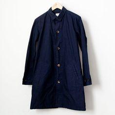 【Men's&Ladies'】Manual Alphabet / Typewriter shirt coat : navy