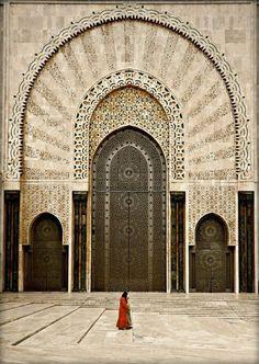 Door of Hassan II Mosque, Casablanca, Morocco