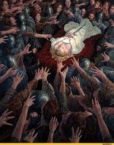 Michael C. Hayes,Тёмное фэнтези,Fantasy,Fantasy art,art,арт,красивые картинки,Мрачные картинки