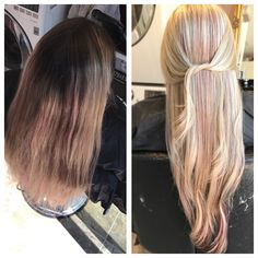 Before & after hair