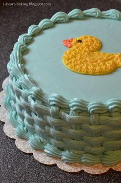 i heart baking!: baby shower duckie cake and cupcakes