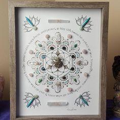 House Blessing, Lotus Art, Creative Visualization, Crystal Meanings, Felt Hearts, Flower Of Life, Hexagon Shape, Crystal Grid, Pink Quartz