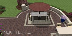 Patio designed to match home style 4