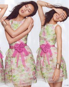 ASIAN MODELS BLOG: Liu Wen on Magazine Cover for Elle Singapore, December 2010