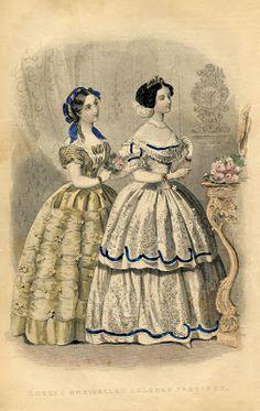 "Victorian:  #Victorian Free Vintage Printable ~ ""Godey's Ladies."""