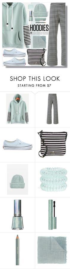 """""""Hoodies"""" by marionmeyer ❤ liked on Polyvore featuring MaxMara, Vans, Kate Spade, Topshop, Invisibobble, Revlon, Too Faced Cosmetics, Estée Lauder, Faliero Sarti and Hoodies"""