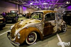 Very nice patina on this Hoodride (ratrod) VW bug... u might need a tetanus shot just to ride in it :)