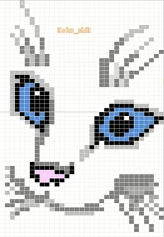 Cat Cross Stitches, Cross Stitch Charts, Cross Stitch Patterns, Knitting Paterns, Knitting Charts, Craft Patterns, Knit Patterns, Beads Pictures, Pixel Pattern