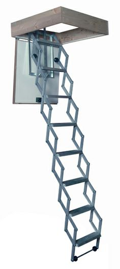 Folding Attic Stairs, House Ladder, Loft Storage, Backyard, Patio, Woodworking Plans, Motorhome, Container, Detail
