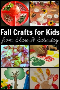 Fall crafts for kids from Fun-A-Day! - over 30 sensory play, learning, recipe, and arts/craft ideas!