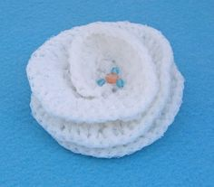 Handcrocheted Brooch Crochet accessories White by evefashion, £4.00