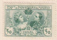 postage stamps from spain | Blogart: Spanish Postage Stamps-Madrid Industrial Exposition-1907