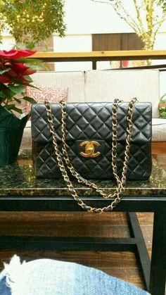 Vintage Chanel jumbo maxi handbag