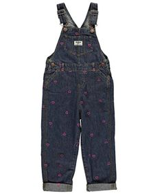 """OshKosh Little Girls Toddler """"Hearts Galore"""" Overalls ** Learn more by visiting the image link. We are a participant in the Amazon Services LLC Associates Program, an affiliate advertising program designed to provide a means for us to earn fees by linking to Amazon.com and affiliated sites."""