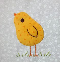 "3.5"" bitty block- Chubby chick - Group 3 by Sandy in Buenos Aires, via Flickr"