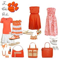 Originally posted for Clemson girls, but I'm saying this is gameday attire for my Vols!